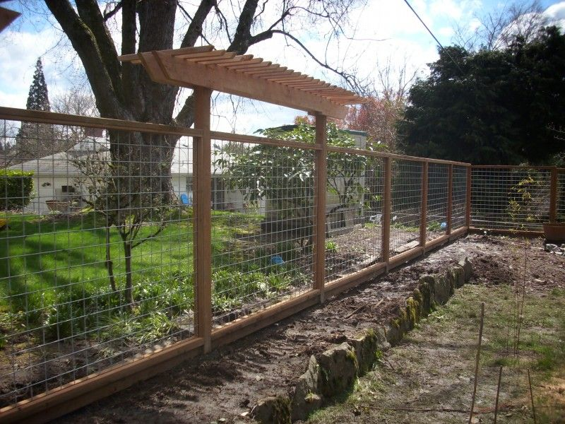 Galvanized wire fencing | Green Privacy Fence | Pinterest | Wire ...