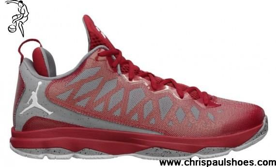 Wholesale Cheap Jordan CP3.VI Cement Pack Gym Red Grey CP3 Shoes 2013 Basketball Shoes Shop