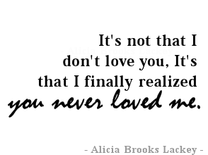 I Finally Realized You Never Loved Me For The Heart Quotes