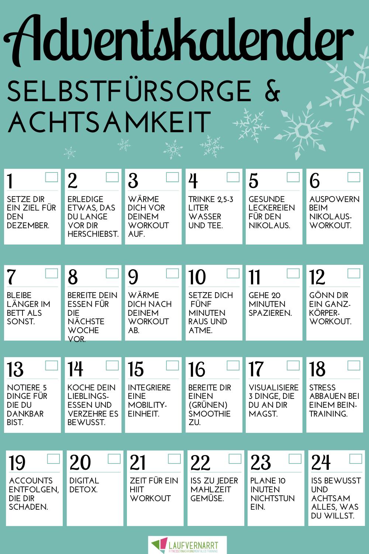 Der Selbstfürsorge und Achtsamkeit Adventskalender 20 ...