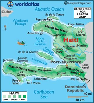 La Carte D Haiti Les Voisins Son Republique Dominicaine Et Cuba Haiti Mission Trip Map Of Haiti Haiti Missions