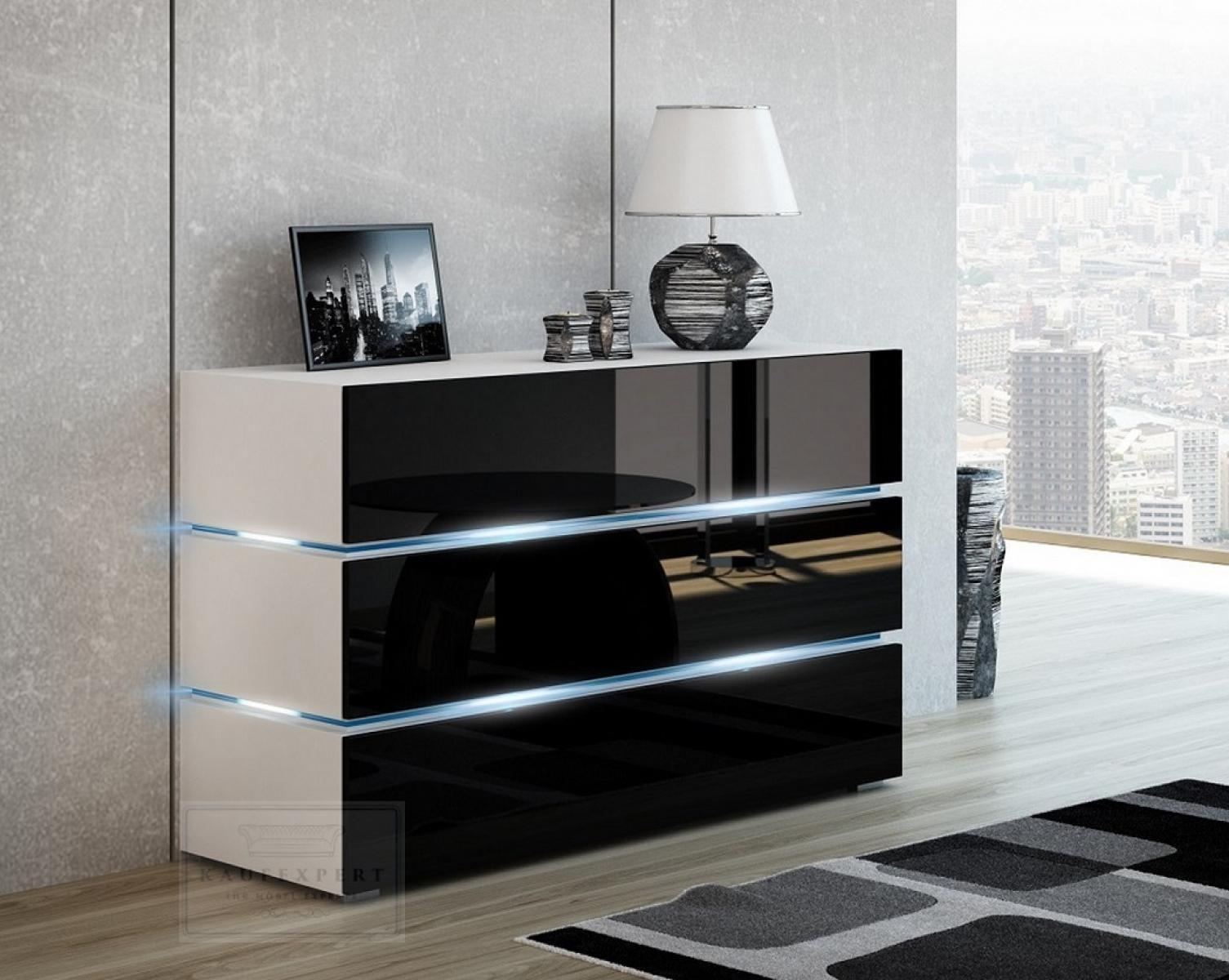 8 schlafzimmer kommode hochglanz schwarz | wohnwand schwarz