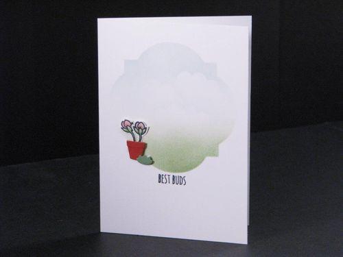 Best Buds Notecard by Tara Murphy Bourgoin #SCTMagazine #papercrafts #scrapbooking