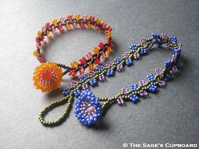 ▷ beaded bracelet tahitian swarovski pearl crystals seed beads.