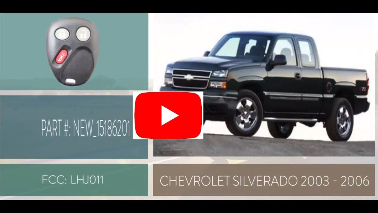 How To Replace A 2003 2006 Chevrolet Silverado Key Fob Battery