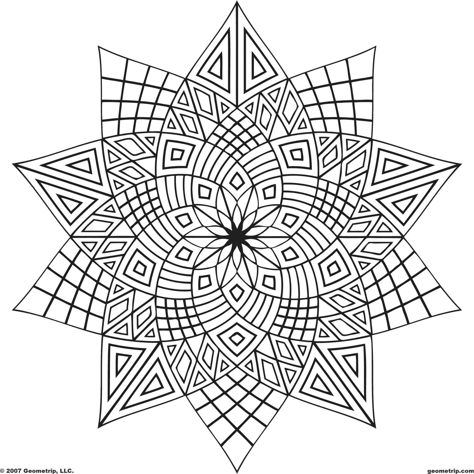 Adult Coloring Book Pages Geometric