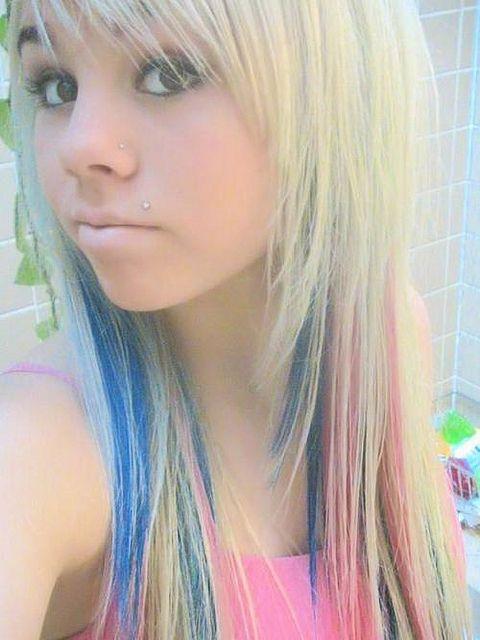 Colorful Scene Hair Scene Hair Scene And Blue Highlights