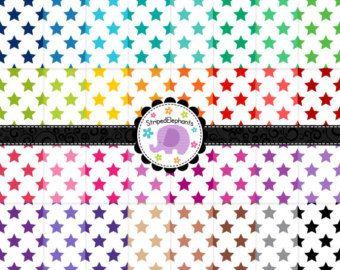 Galaxy Star Digital papeles stary scrapbook por StripedElephants
