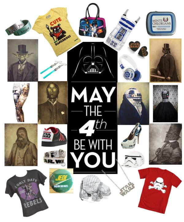 """May the Fourth Be with You! (Even if it is slightly belated.)"" by dragonrescuer ❤ liked on Polyvore"