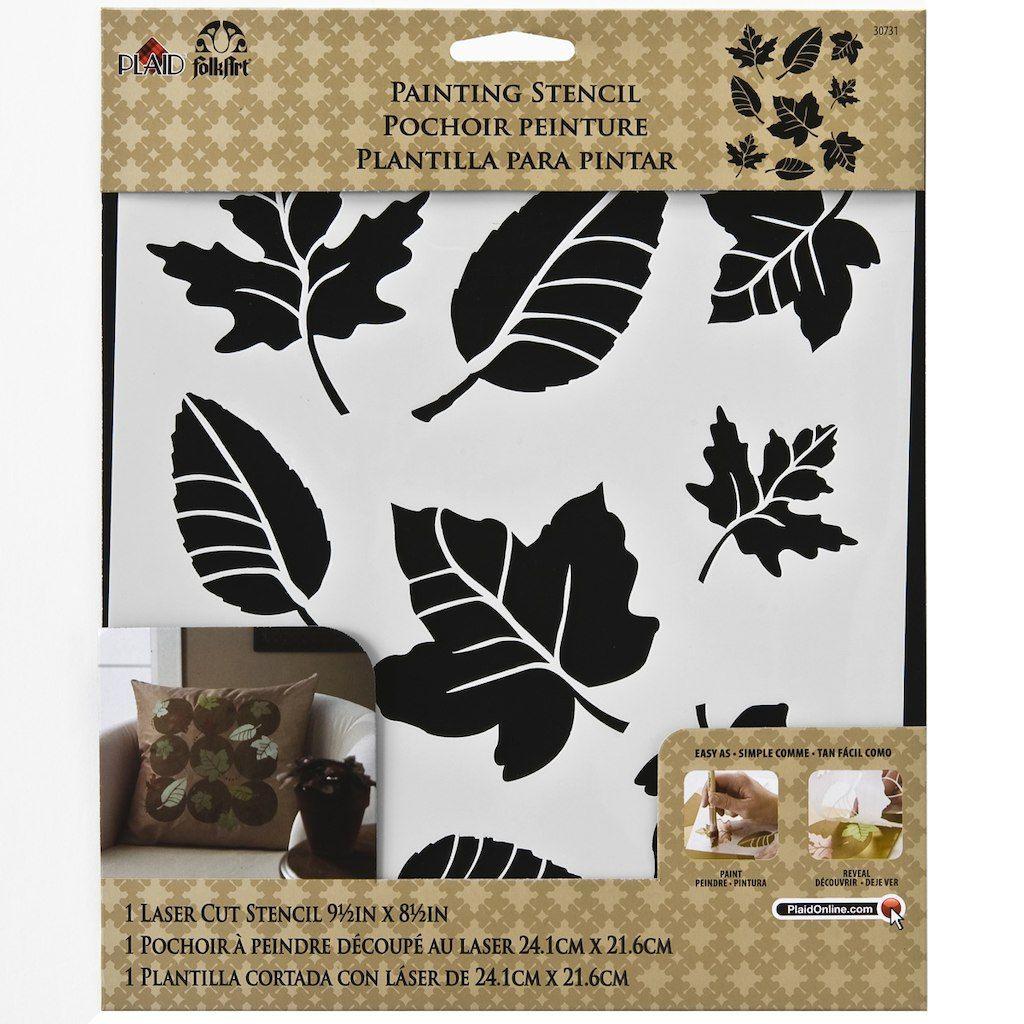 FolkArt® Painting Stencil, Leaf Variety Stencil painting