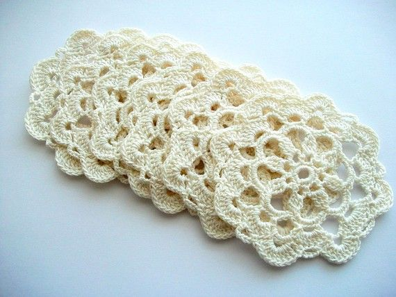 Hand Crocheted Coasters