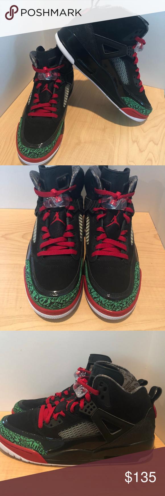 huge selection of 2c219 047ba Nike Air Jordan Spizike Black Green Red Nike Air Jordan Spizike Black Green