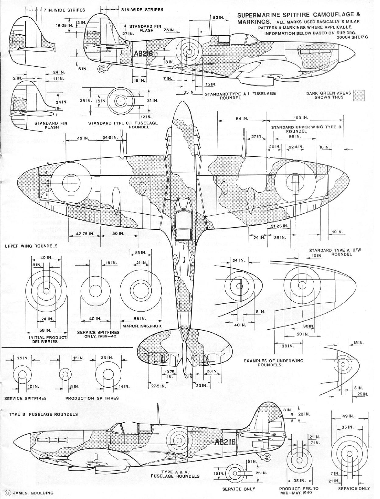 Raf A And B Pattern Spitfire Camo Aircraft Of World War Ii