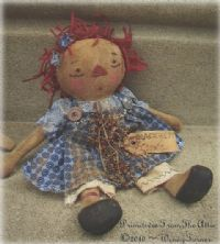 Attic Annie Spun Cloth Doll Supplies Doll Hair Linen Threads For Period Work Aged Textiles Backside Of The Moon Primitives Raggedy Doll Raggedy Doll Hair