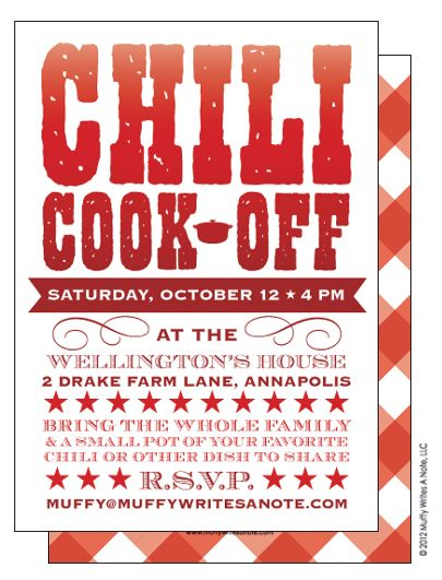 chili cook off invitation fall pinterest chili party chowders and chili bar. Black Bedroom Furniture Sets. Home Design Ideas