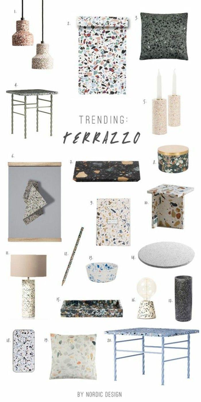 terrazzo fliesen der bodenbelag aus der antike erlebt sein comeback charming pinterest. Black Bedroom Furniture Sets. Home Design Ideas