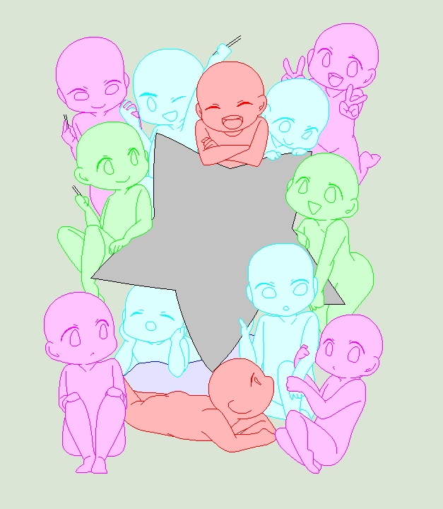 Cute Little Chibi Base For You Guys All I Did Was Pixelize And