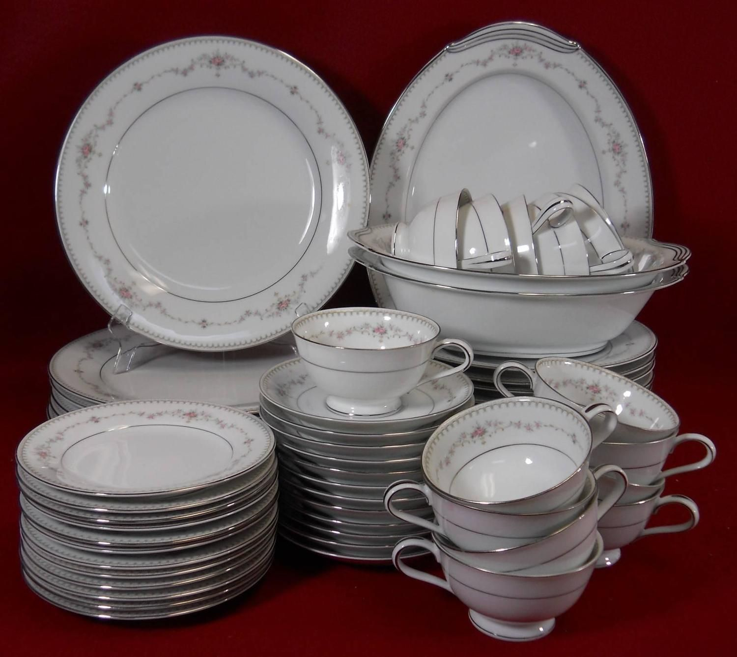 Noritake China Fairmont 6102 Pattern 62 Piece Set Service For Twelve 12 From A Unique Collection Of Vintage Tableware Noritake China Patterns Tableware