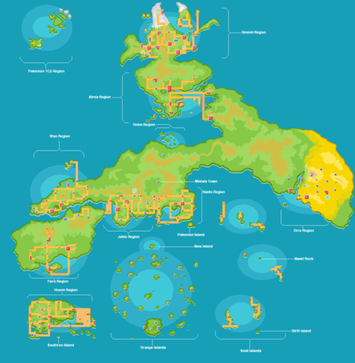 Complete world of Pokemon, not that I recognize this ...