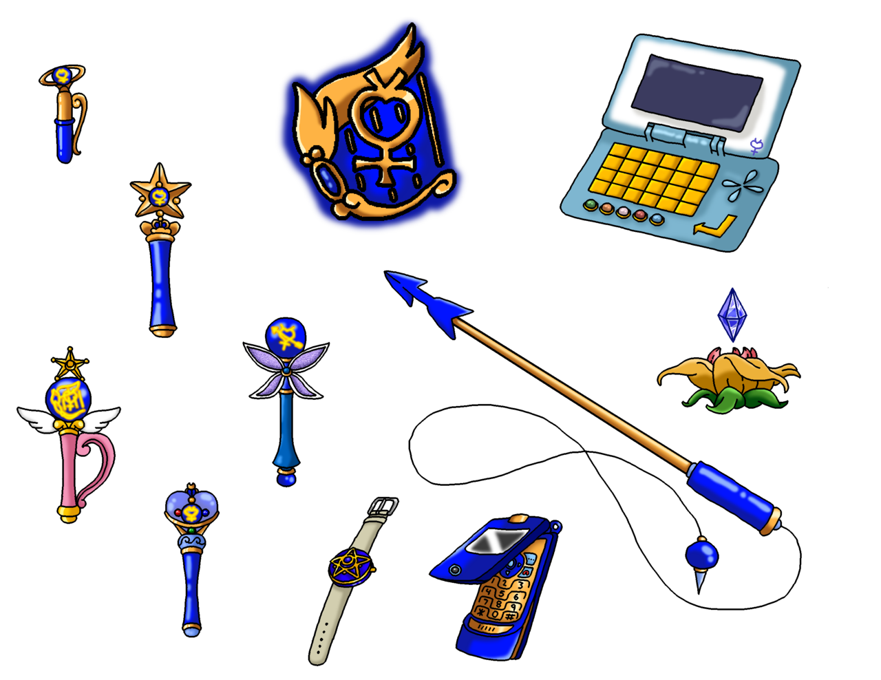 Nads6969: NSG Sailor Mercury's Items By Nads6969.deviantart.com On