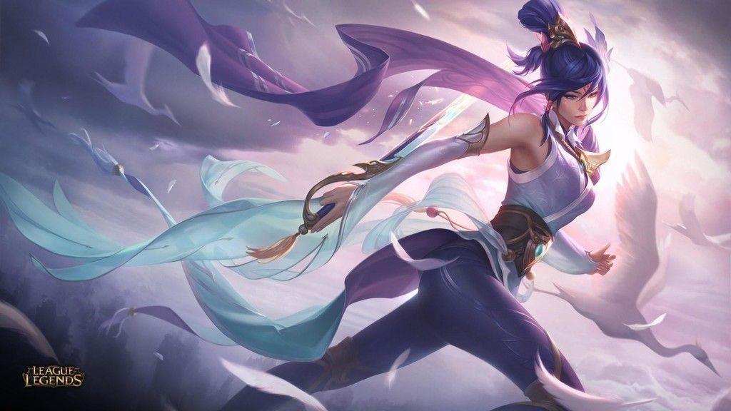 Fiora, League of Legends, purple hair, game wallpaper
