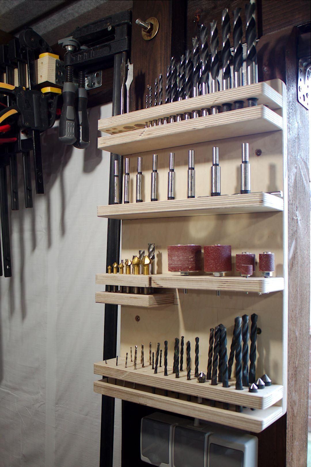 aufbewahrungsregal f r bohrmaschinenzubeh r bauanleitung zum woodworking pinterest. Black Bedroom Furniture Sets. Home Design Ideas
