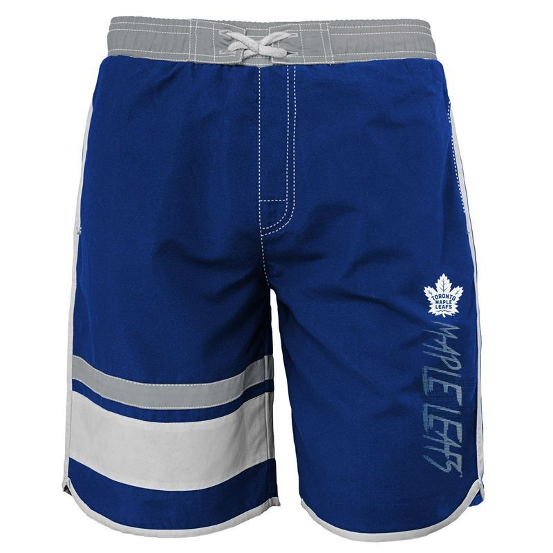 6047c0eddd Toronto Maple Leafs Youth Color Block Swim Trunks - Blue | Products ...