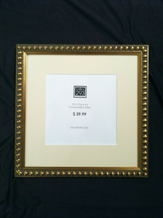 10 X 10 Or 6 X 6 Dark Golden Beaded Square Frame By Gallery293 39 99 Frame Custom Framing Picture Frames