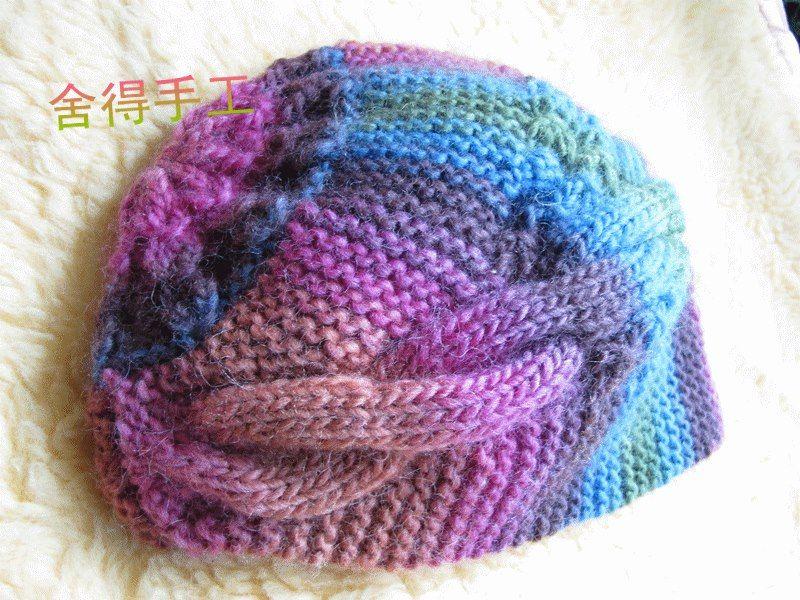 Crochê Tricô - Gráficos  Touca com Tranças  09949b64d10