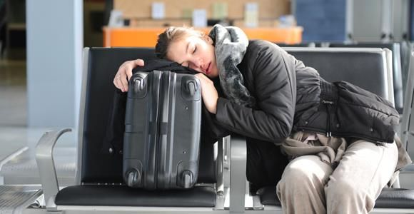 Whether you need to take a quick nap or you're sipping some tea at the airport, always make sure to keep your luggage close. Use your backpack as a pillow while taking a nap or slip the handles of your bag under the leg of your chair to protect it from being stolen.