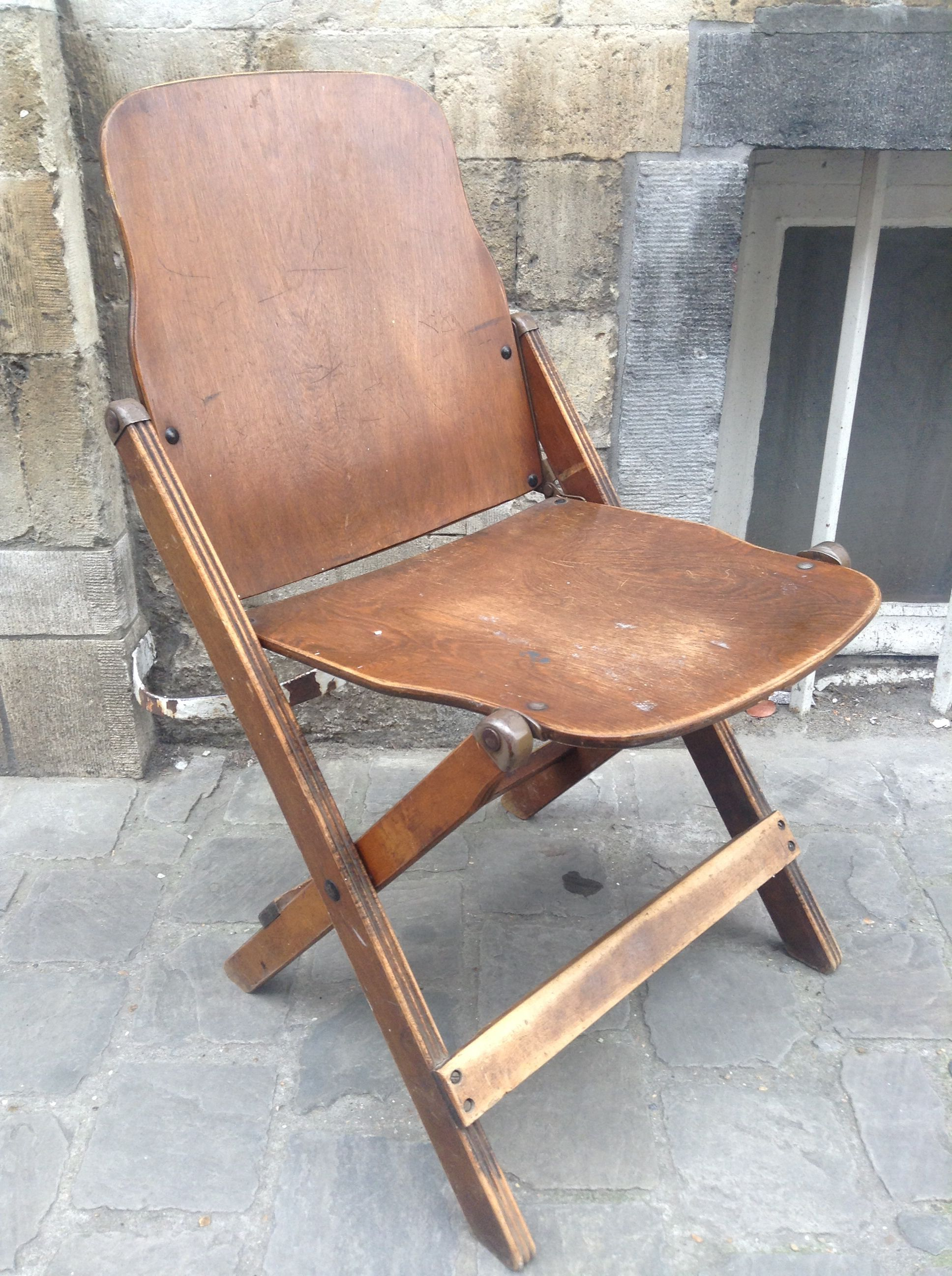 1940s Us Army Folding Chair As Used In The Field Or