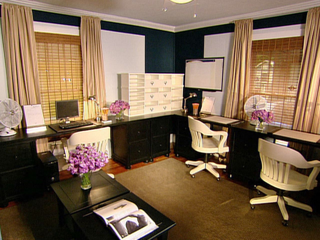 Nice Elegant Guest Room Office: Wonderful Guest Room Design   White And Dark  Woods. Pictures