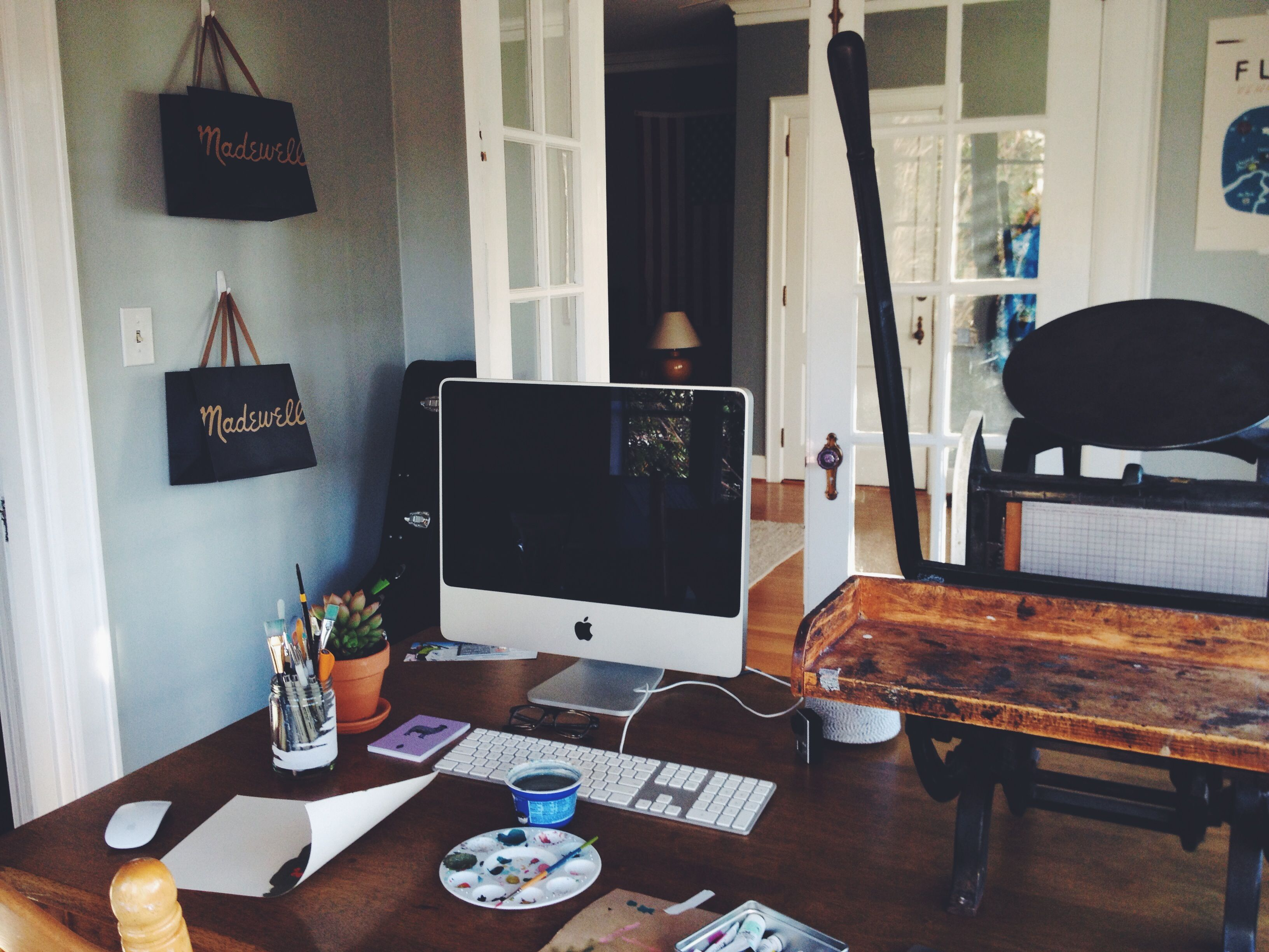 Home office of Nicole Gatlin at Thistle & Bur Letterpress and Paper ...