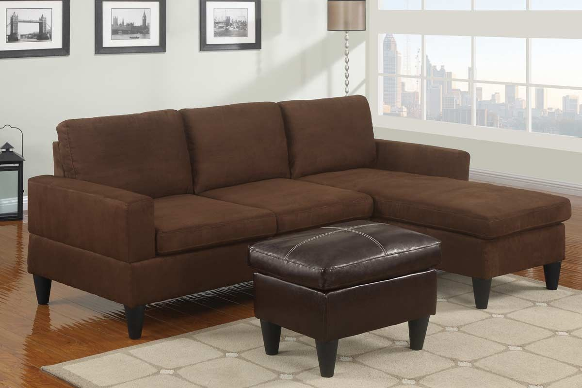 Compact Sectional Sofa Orange County Furniture Warehouse F7281 Sectional Sofa Small Space Sectional Sofa Microfiber Sectional Sofa