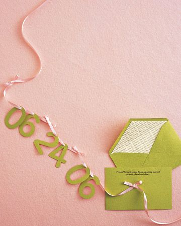 Use our template to make this ribbon save-the-date