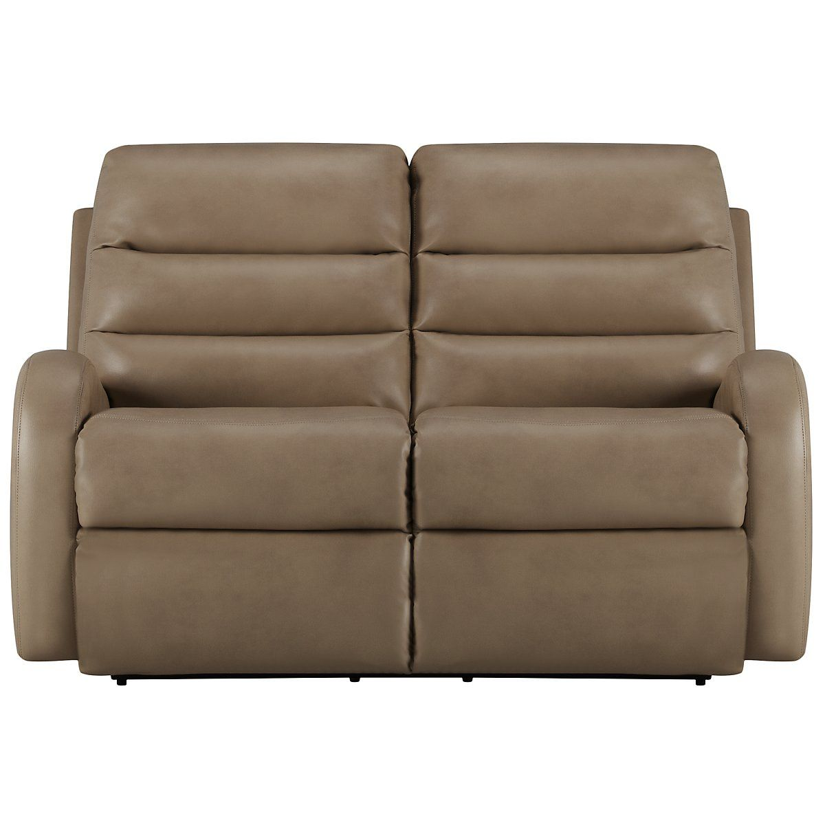 Carver beige microfiber power reclining loveseat with