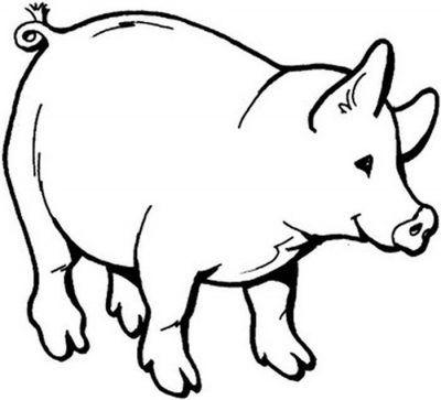 Dibujo De Cerdito Siluetas Animales Patrones De Animal De Peluche Cerdo Dibujo