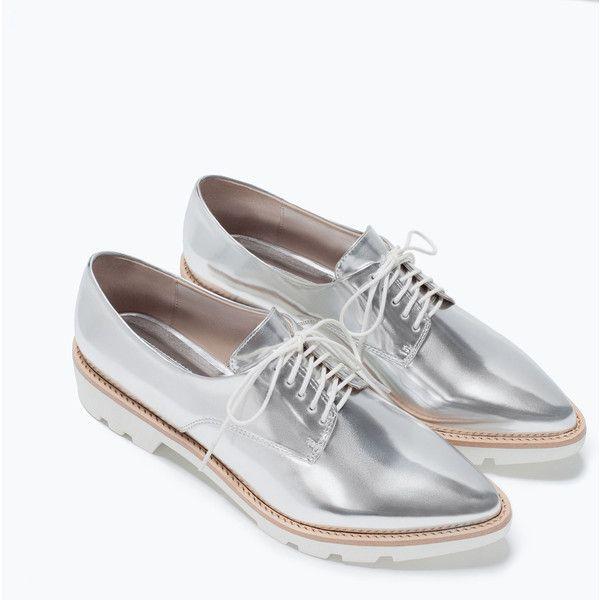 Tendance Chaussures 2017/ 2018  Zara Patent Blucher (210 HRK) ❤ liked on