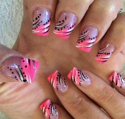 nails matte pink french tips 44 trendy ideas nails