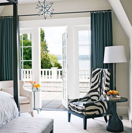 So Elegant Love A Sitting Area In A Master Bedroom By: French Doors From Master Bedroom. That Chair Is Dumb But I