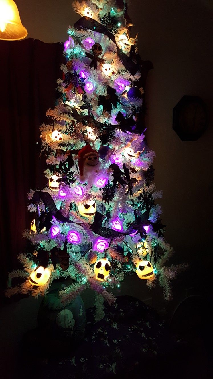 My nightmare before Christmas tree in the works!! Not done yet ...