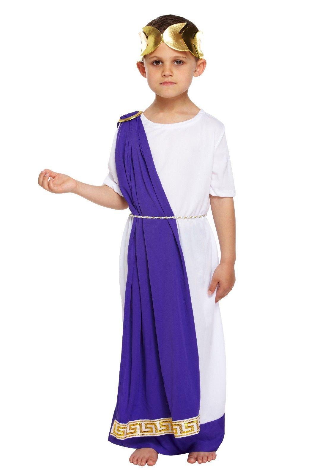 Boys Roman Emperor Julius Caesar Greek Toga King Kids