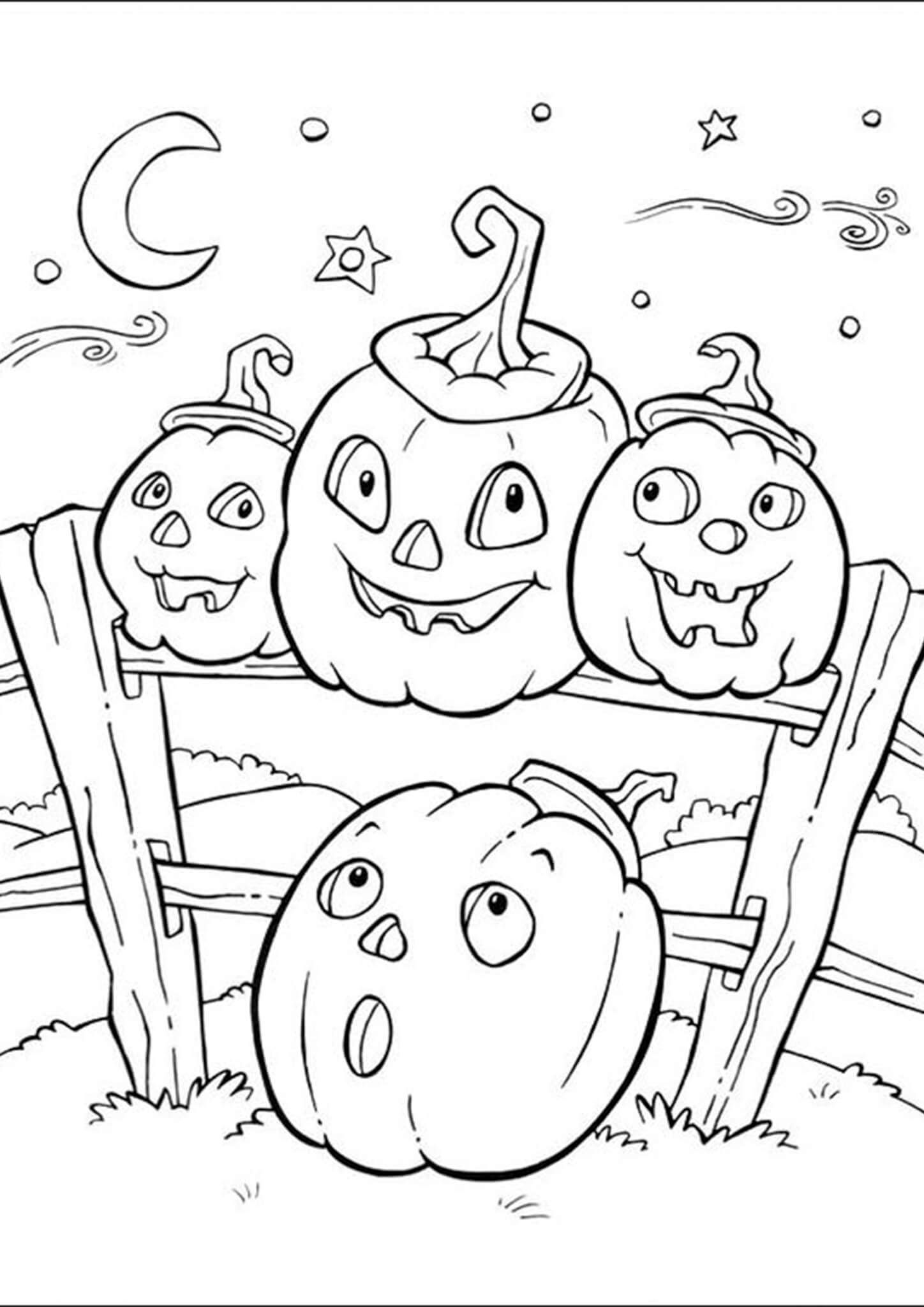 Free & Easy To Print Halloween Coloring Pages in 2020