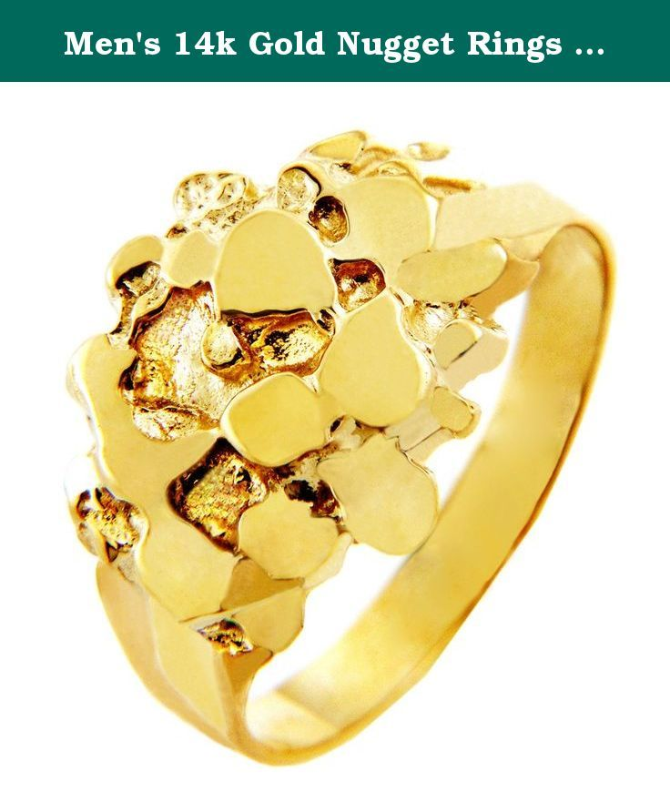 Men S 14k Gold Nugget Rings The Stoic 8 75 This Outstanding Men S Nugget Ring Called The Stoic Boasts A Lasting Hi Gold Nugget Ring Gold Nugget 10k Gold