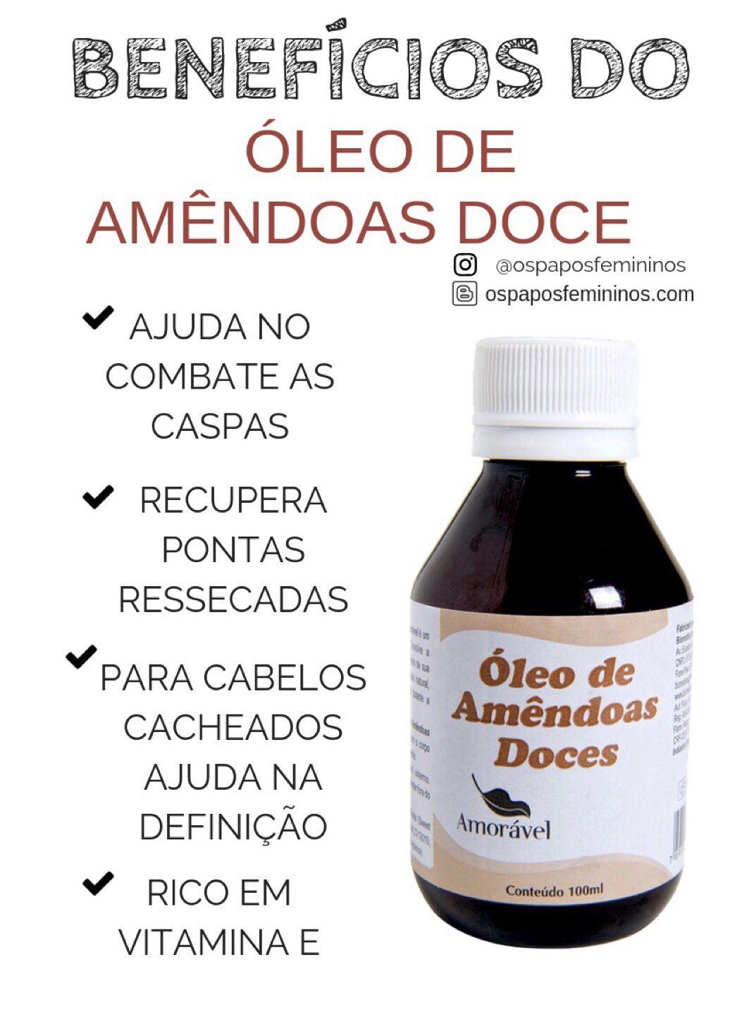 5309f1ce0 Já conhecia os benefícios do óleo de amêndoas doce? #cabelo #nutrição  #cronogramacapilar #cachos #dicasdebeleza #dicas #dicasdecabelo #blogueiras  # ...