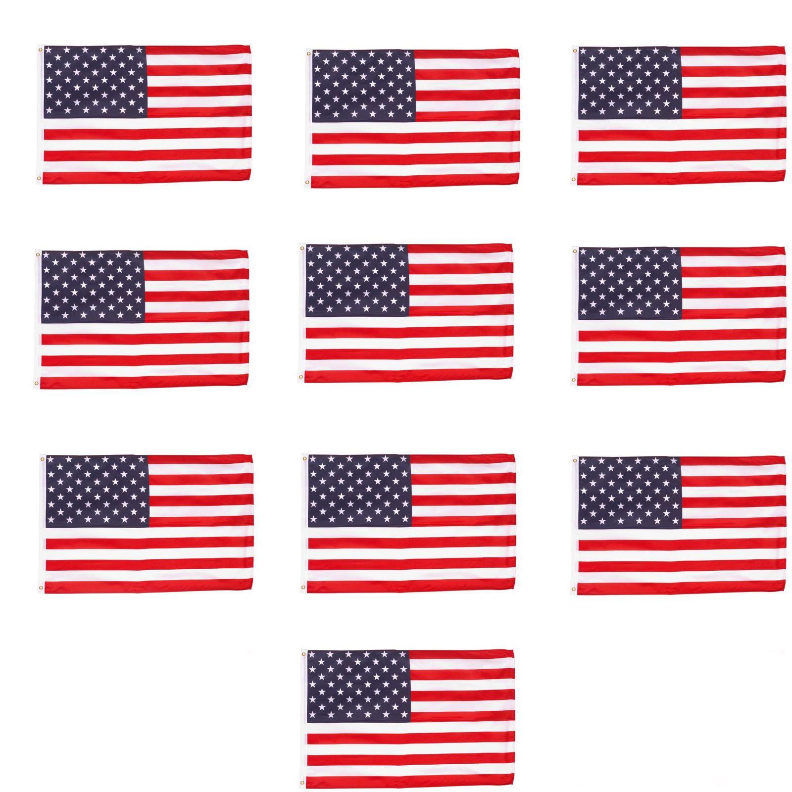 Wholesale Lot 10 4 X 6 Ft Usa Us American Flag Stars Grommets United States Ebay American Flag Stars American Flag Flag