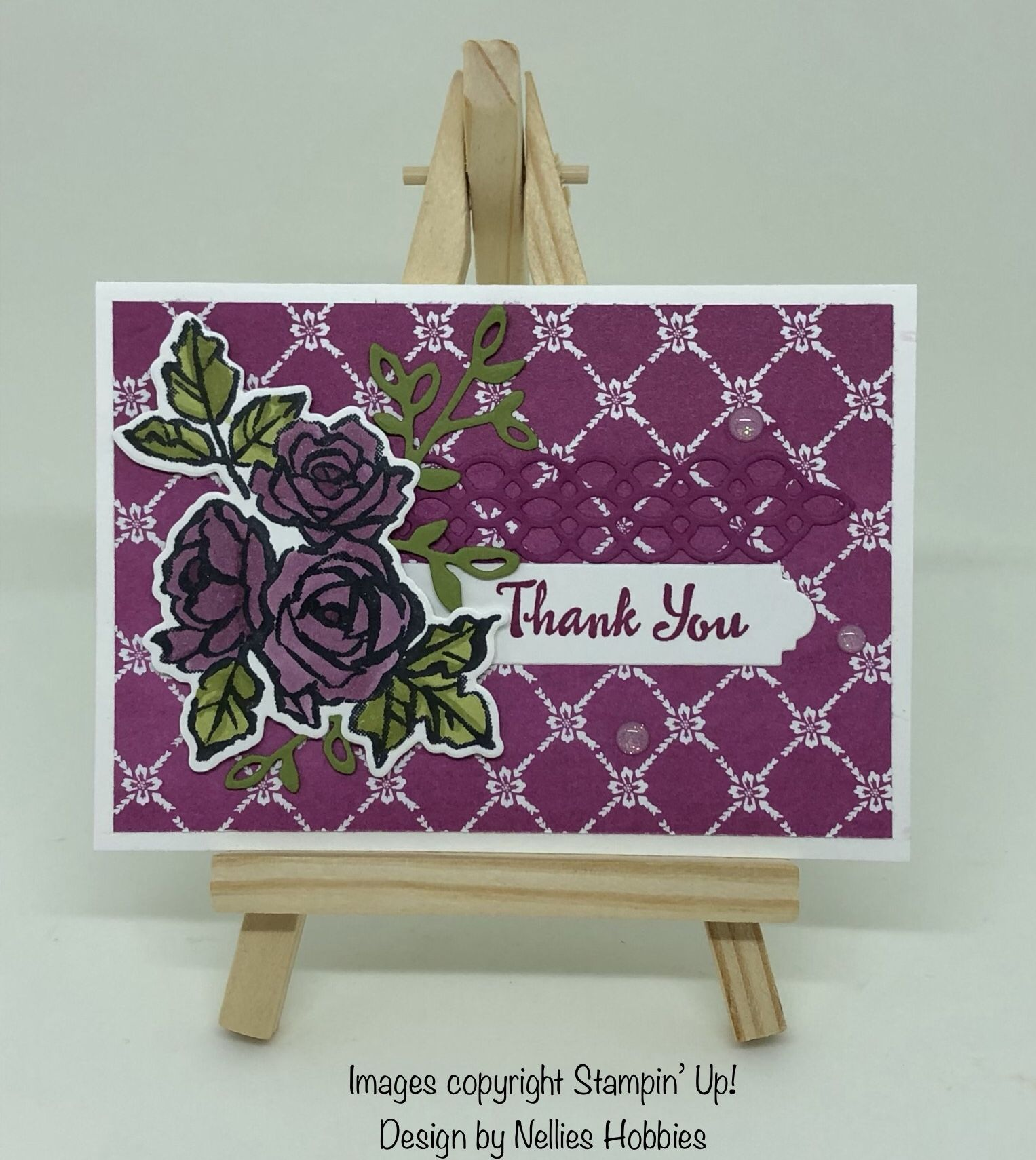 Thank You Card Using Stampin Blends And The New Petal Palette