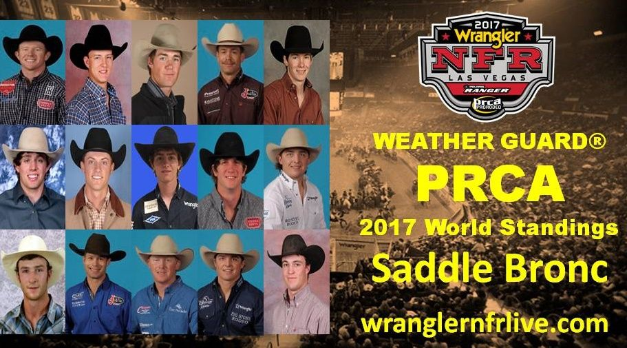 National Finals Rodeo Qualifiers 2017 Saddle Bronc