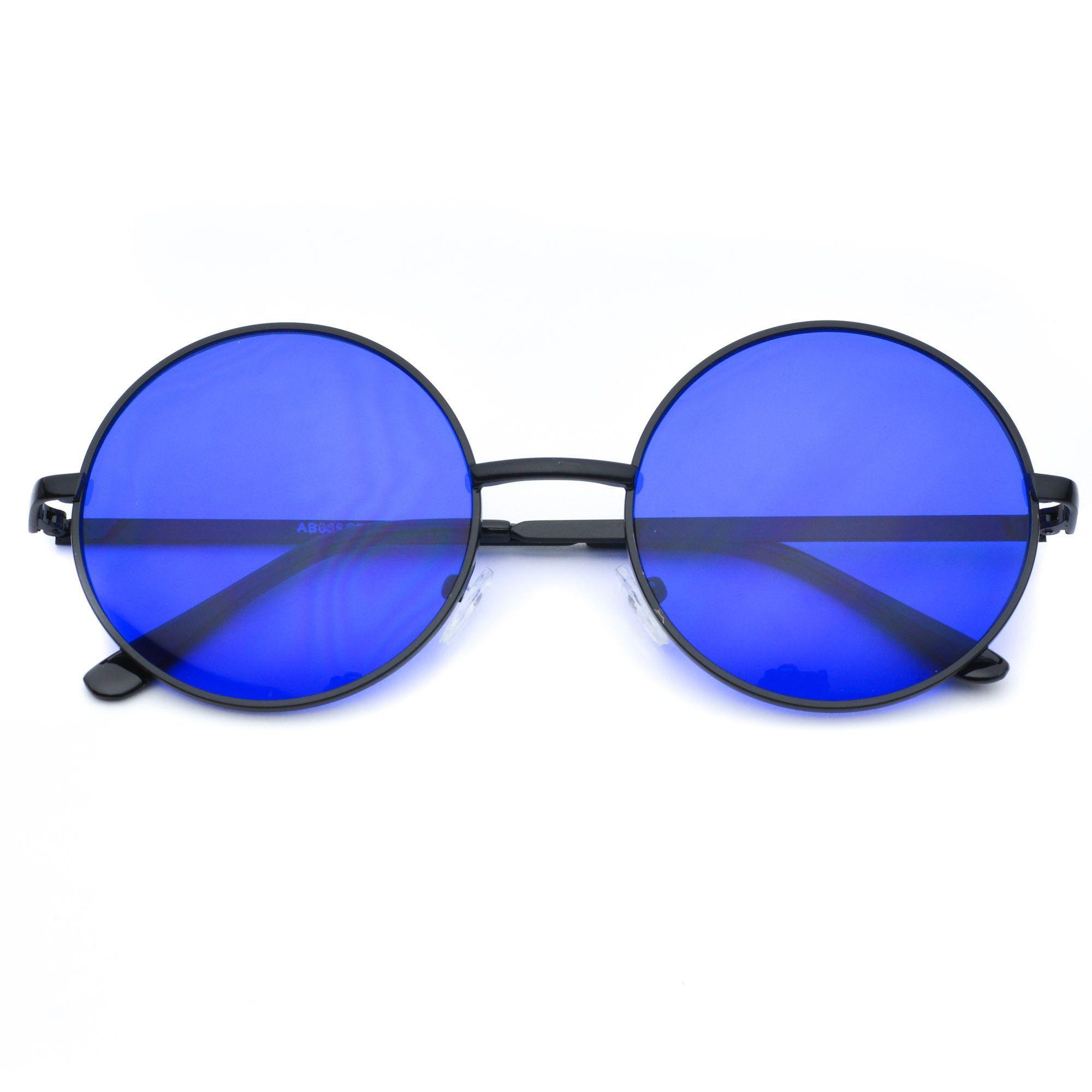 Payton Colorful Round Retro Sunglasses
