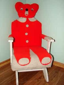 I Want My Bear Chair Back Very Old Teddy Bear Rocking Chair